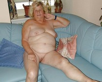 Dirty amateur granny naked at home