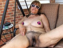 Hairy And Pierced Granny naked