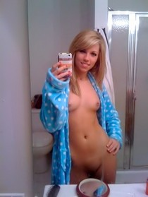 Amazing homemade selfshot picture featuring gorgeous teen novice.