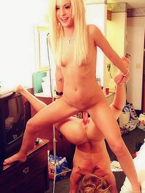 Blonde amateur teens nude college party babes double-ended dildo....