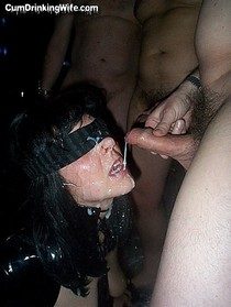 Amazing milf in a hot bukkake jizzed photo.