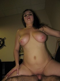 Chubby brunette with huge boobs having wild hardcore sex