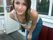 Beautiful teen (18+) in photo.