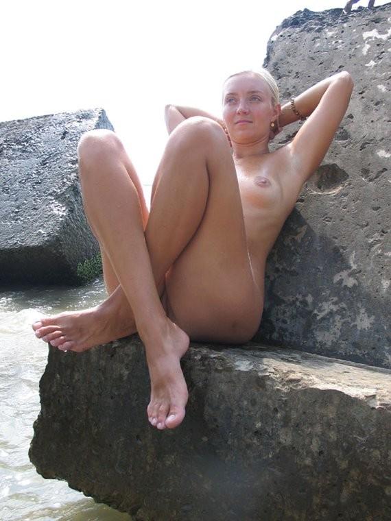 wife nude beach posing Amateur