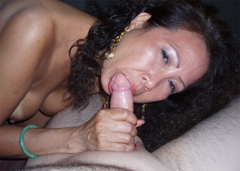 Cock sucking mature asian