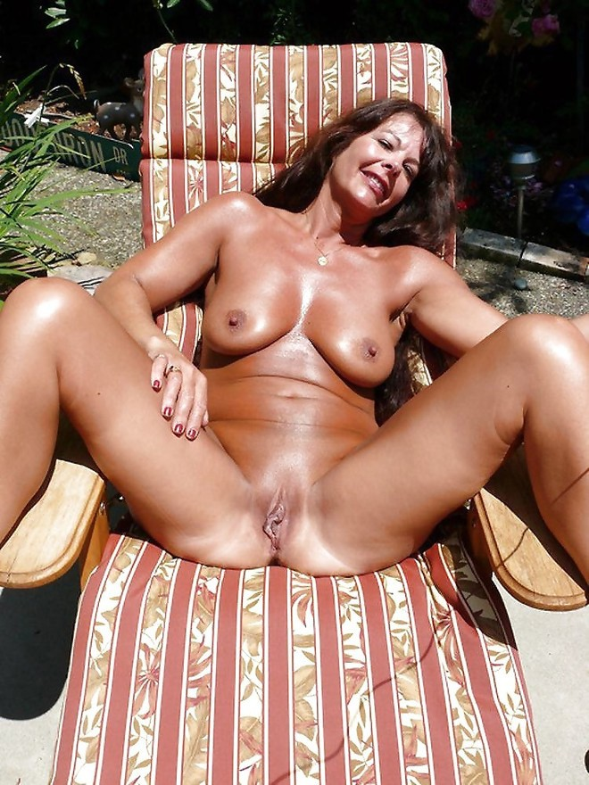Mom sexy tanned milf rides young stud hard 7