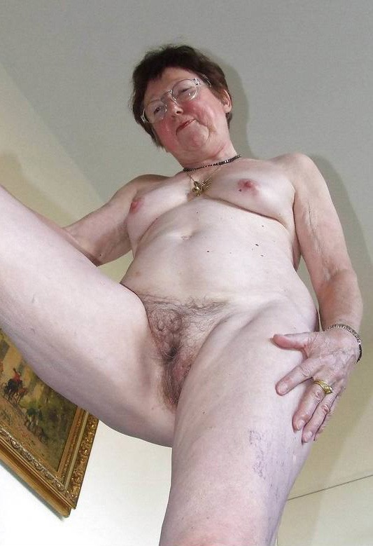 Naked hairy old women
