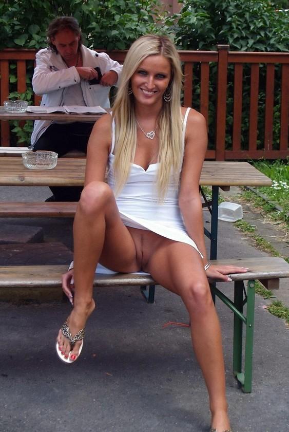 Upskirt wife public