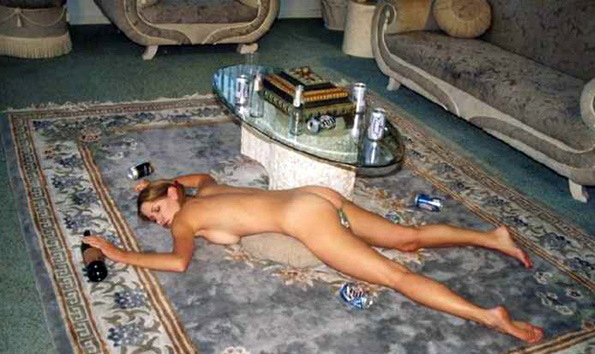 drunk past out naked